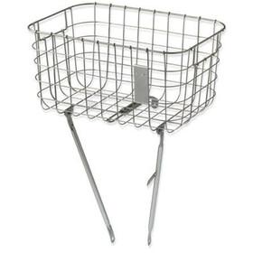 Basil Robin Luggage Pannier Basket silber